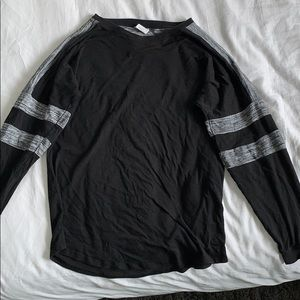 PINK black and grey long sleeve
